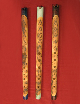 QUENA of ceramic Andean Wind Instrument
