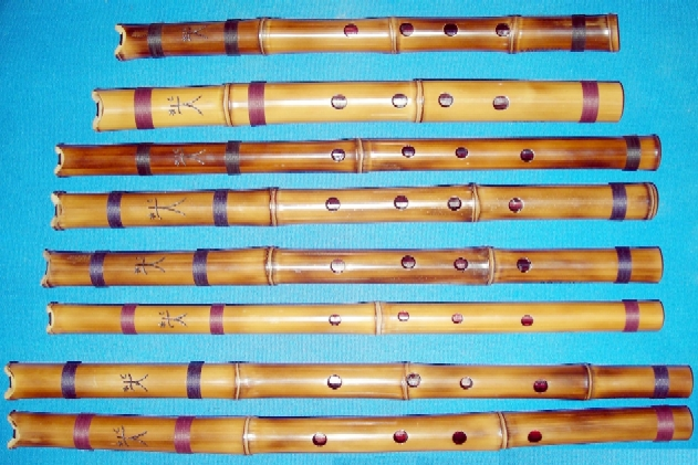 Various Shakuhachis Japanese flute