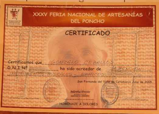 First Mention National Fair of Artesanias Del Poncho 2005